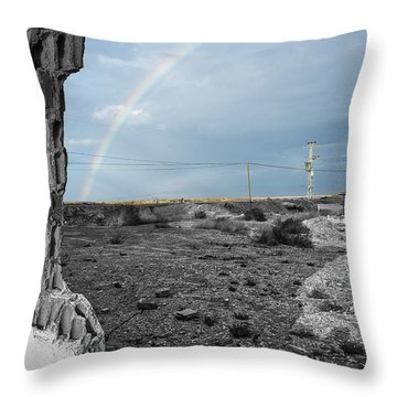 In The Beauty Of Abandoned 03 Throw Pillow by Arik Baltinester