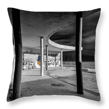 In The Beauty Of Abandoned 04 Throw Pillow by Arik Baltinester