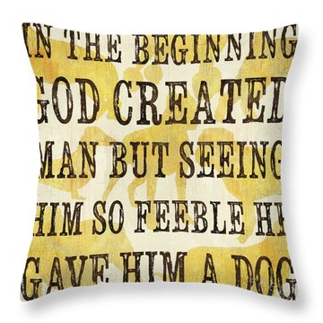 In The Beginning... Throw Pillow