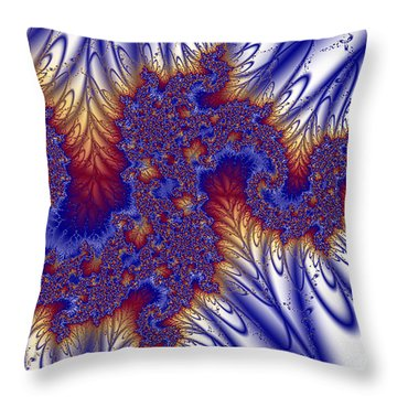 In The Beginning Throw Pillow by Sylvia Thornton