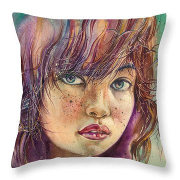 In The Bird Paradise Throw Pillow