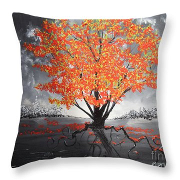 Blaze In The Twilight Throw Pillow