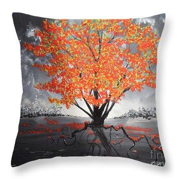 Blaze In The Twilight Throw Pillow