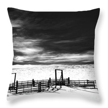 In The Bleak Midwinter Throw Pillow by Theresa Tahara