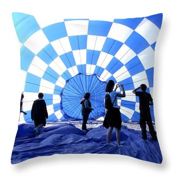 Throw Pillow featuring the photograph In The Blue by Christopher McKenzie