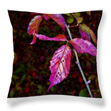 In The Briar Patch Throw Pillow by Judi Bagwell