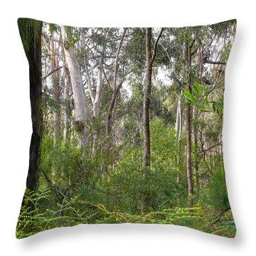Throw Pillow featuring the photograph In The Bush by Evelyn Tambour