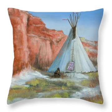 In The Canyon Throw Pillow by Jerry McElroy