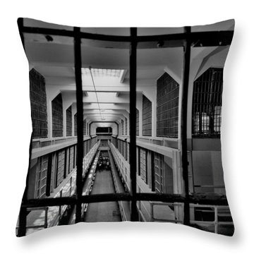 In The Clink Throw Pillow by Benjamin Yeager