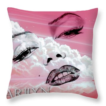 In The Clouds Throw Pillow by Greg Sharpe