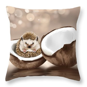 In The Coconut Throw Pillow