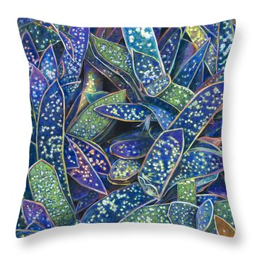In The Conservatory - 6th Center - Indigo Throw Pillow