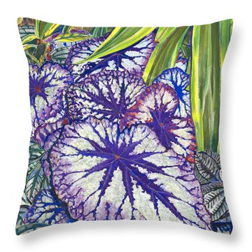 In The Conservatory-7th Center-violet Throw Pillow