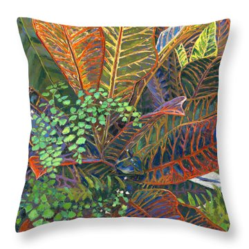 In The Conservatory - 2nd Center - Orange Throw Pillow