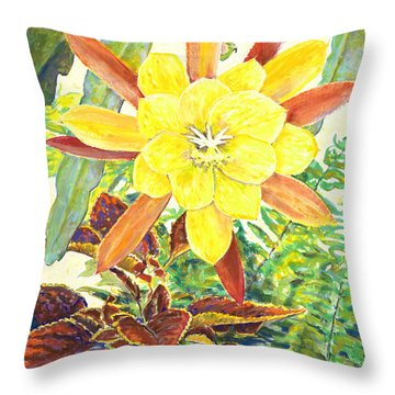 In The Conservatory - 3rd Center - Yellow Throw Pillow