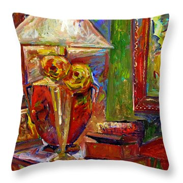 In The Corner Of My Studio Throw Pillow by Charlie Spear