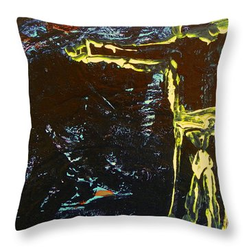 In The Dark Corn Throw Pillow
