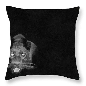 Throw Pillow featuring the painting In The Dark by Georgi Dimitrov