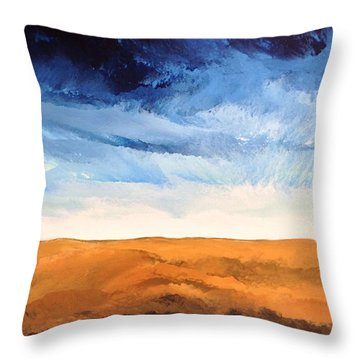 Throw Pillow featuring the painting In The Distance by Linda Bailey