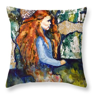 Throw Pillow featuring the mixed media In The Dream by P Maure Bausch