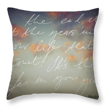 In The End... Throw Pillow