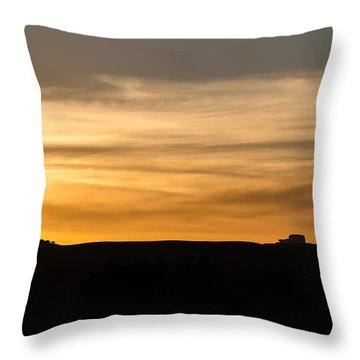 In The Evening I Rest Throw Pillow by CML Brown