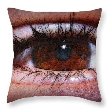 In The Eye Of The Beholder... Throw Pillow by Tammy Schneider