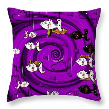 In The Eye Of The Hurricane Throw Pillow by Pepita Selles