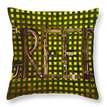 In The Fabric Of Our Society Throw Pillow