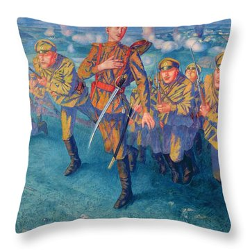 In The Firing Line Throw Pillow