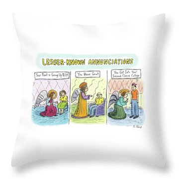 In The First Panel Throw Pillow