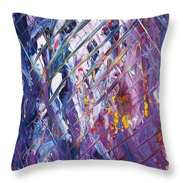 In The Fishermens Net Throw Pillow