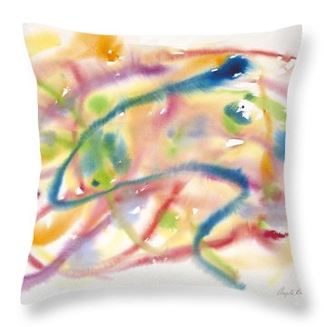 In The Flow Throw Pillow