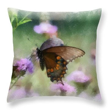 In The Flowers Throw Pillow
