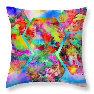 In The Flowers Throw Pillow by M and L Creations Craft Boutique