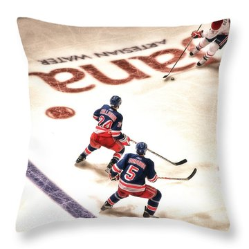 In The Game Throw Pillow by Karol Livote