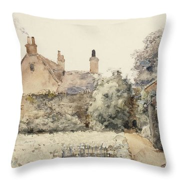In The Garden Throw Pillow by Childe Hassam