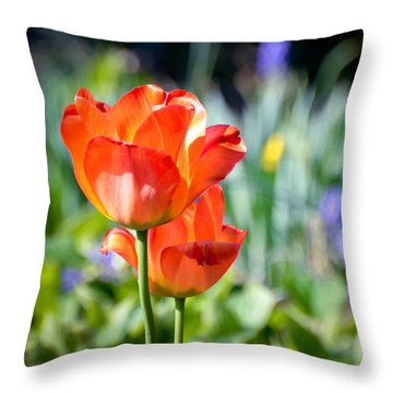 Throw Pillow featuring the photograph In The Garden by Kerri Farley