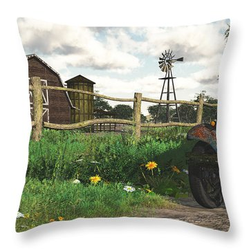 Throw Pillow featuring the digital art In The Heartland by Jayne Wilson