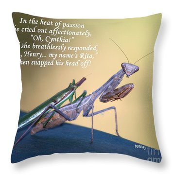 In The Heat Of Passion Throw Pillow