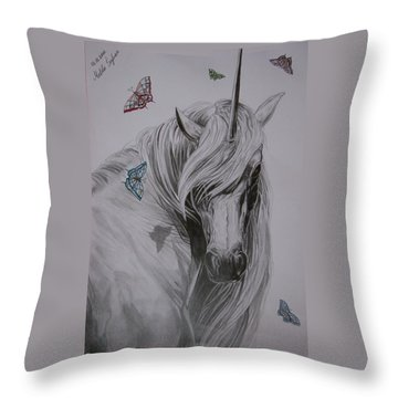 In The Heaven Throw Pillow by Melita Safran