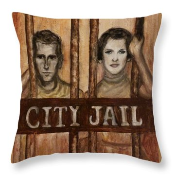 In The Jailhouse Now Throw Pillow by Regina Brandt