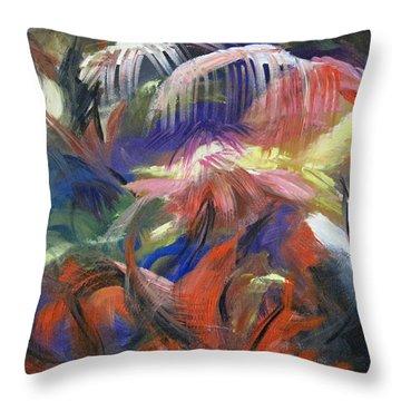 In The Jungle Throw Pillow by Roberta Rotunda