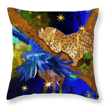In The Jungle Throw Pillow by Sydne Archambault