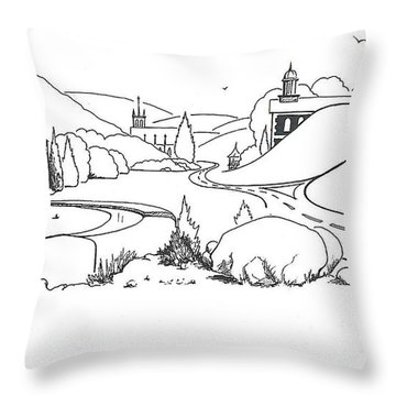 In The Land Of Brigadoon  Throw Pillow