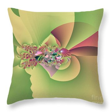 In The Land Of Fairies Throw Pillow by Maria Urso