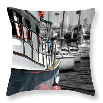 In The Lead Throw Pillow