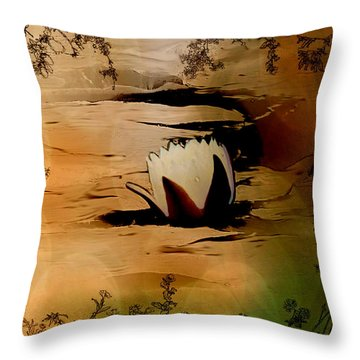 In The Lily Pond - Savannahwildliferefuge-featured In Nature Photography Throw Pillow by EricaMaxine  Price