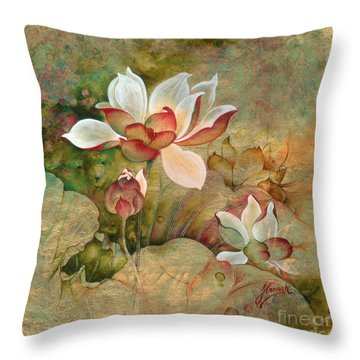 In The Lotus Land Throw Pillow