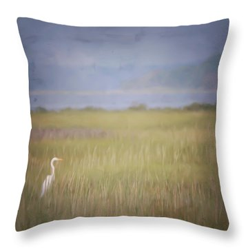 Throw Pillow featuring the photograph In The Marsh  by Kerri Farley